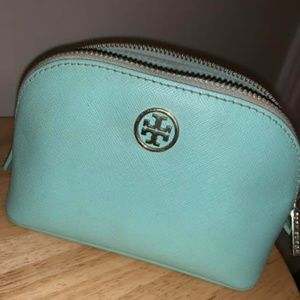 Tory Burch Small Leather Makeup Bag